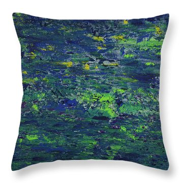 Summer Blue Serenity Throw Pillow