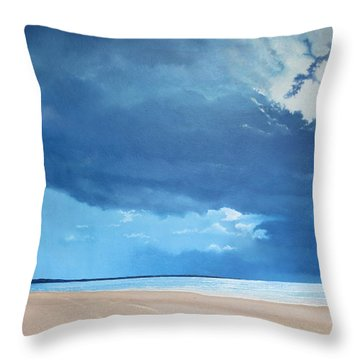 Summer Blues Throw Pillow by Paul Newcastle