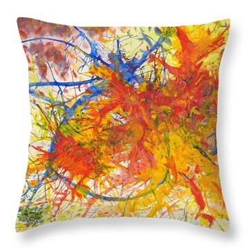 Summer Branches Alfame With Flower Acrylic/water Throw Pillow