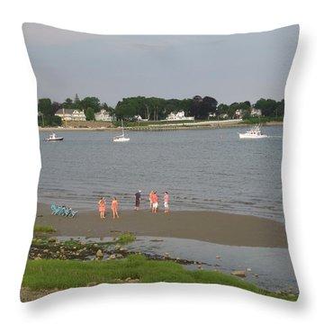 Summer Break Throw Pillow
