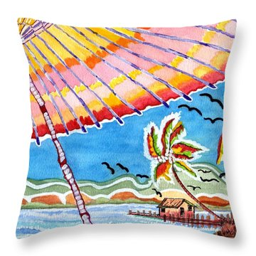 Summer Breezes Throw Pillow by Connie Valasco