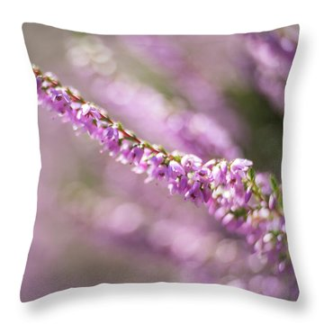 Summer Breezes Through The Heather Throw Pillow