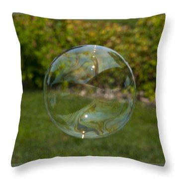 Summer Bubble Throw Pillow