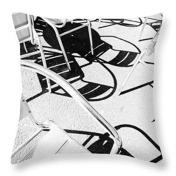 Summer Chair Pattern Throw Pillow