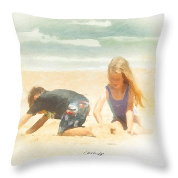 Throw Pillow featuring the painting Summer by Chris Armytage