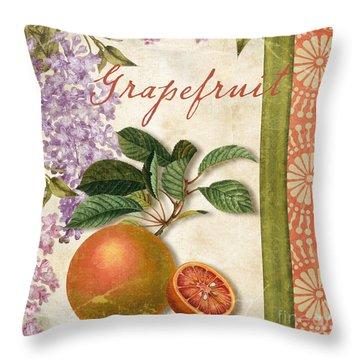 Summer Citrus Grapefruit Throw Pillow