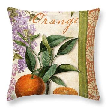 Summer Citrus Orange Throw Pillow