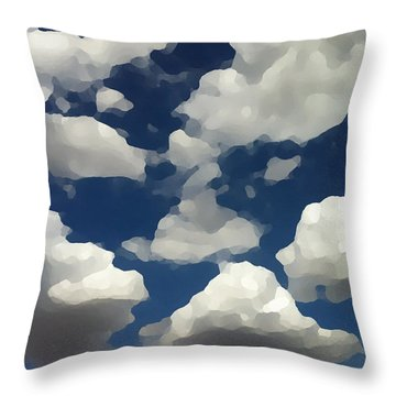 Summer Clouds In A Blue Sky Throw Pillow