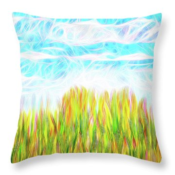 Summer Clouds Streaming Throw Pillow