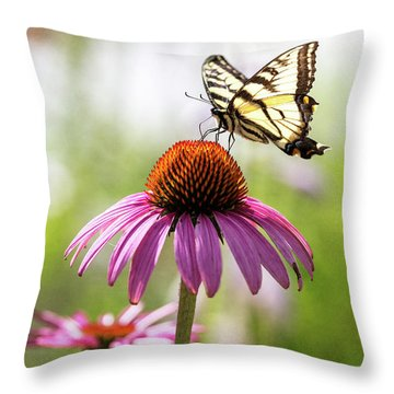 Throw Pillow featuring the photograph Summer Colors by Everet Regal