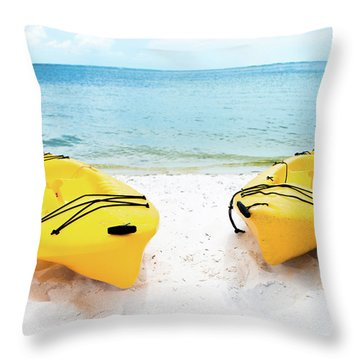 Throw Pillow featuring the photograph Summer Colors On The Beach by Shelby Young