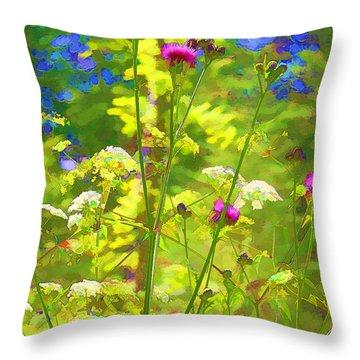 Summer Colors Throw Pillow by Susan Crossman Buscho