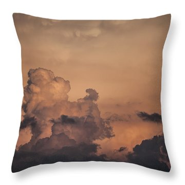 Summer Clouds Throw Pillow by Ray Congrove