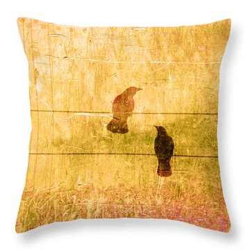Summer Crows Throw Pillow by Carol Leigh