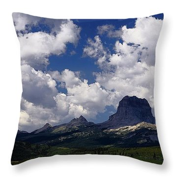 Summer Day At Chief Mountain Throw Pillow