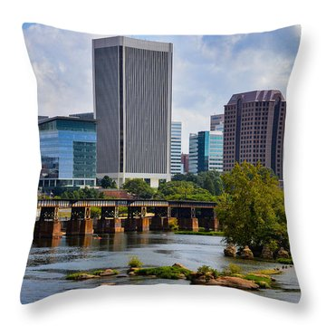 Summer Day In Rva Throw Pillow
