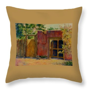 Summer Day In Santa Fe Throw Pillow