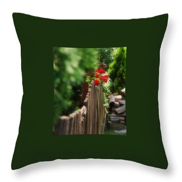 Throw Pillow featuring the photograph Summer Day... by Marija Djedovic