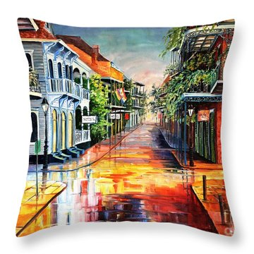 Summer Day On Royal Street Throw Pillow