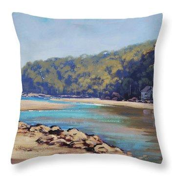 Summer Day Patonga  Throw Pillow