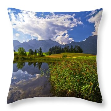 Summer Day Throw Pillow by Sabine Jacobs