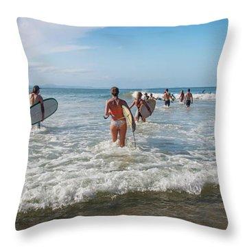 Summer Days Byron Waves Throw Pillow