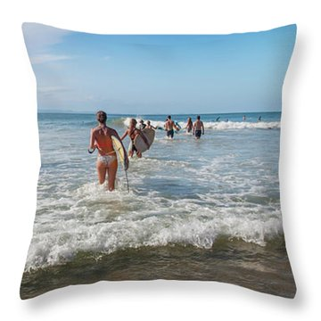 Summer Days Byron Waves Throw Pillow
