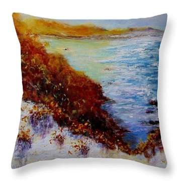Throw Pillow featuring the painting Summer Dream.. by Cristina Mihailescu