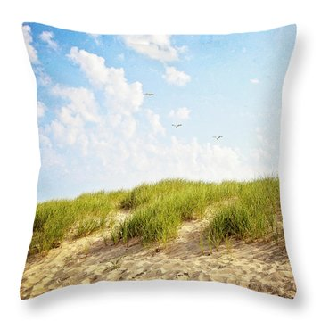 Throw Pillow featuring the photograph Summer Dunes by Melanie Alexandra Price