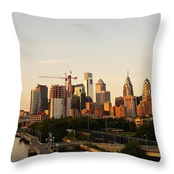 Summer Evening In Philadelphia Throw Pillow