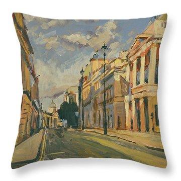 Summer Evening Pall Mall London Throw Pillow