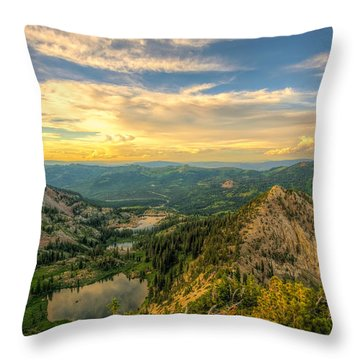 Summer Evening View From Sunset Peak Throw Pillow
