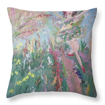 Summer Fairy Throw Pillow by Judith Desrosiers
