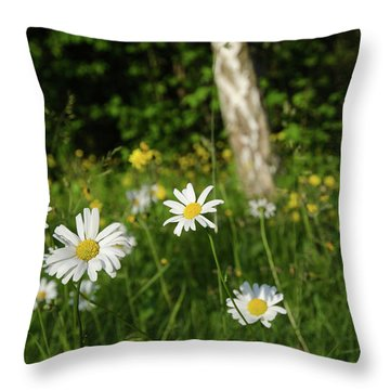 Throw Pillow featuring the photograph Summer Feeling by Kennerth and Birgitta Kullman