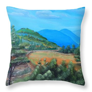 Summer Fields 2 Throw Pillow