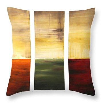 Summer Fields By Madart Throw Pillow by Megan Duncanson