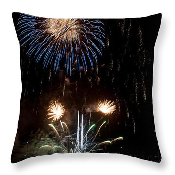 Summer Fireworks I Throw Pillow by Helen Northcott