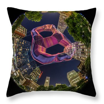 Summer Float Throw Pillow