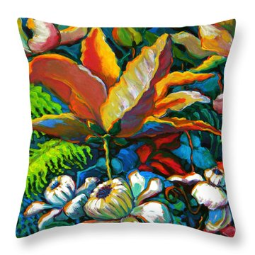 Summer Florals Throw Pillow by Jeanette Jarmon