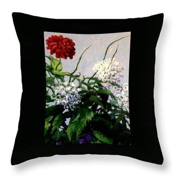 Summer Flowers 1 Throw Pillow