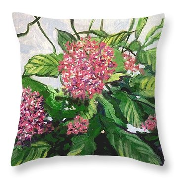 Summer Flowers 2 Throw Pillow