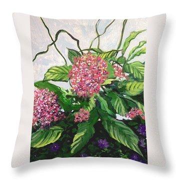 Summer Flowers 2 Throw Pillow
