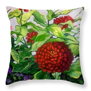 Summer Flowers 3 Throw Pillow