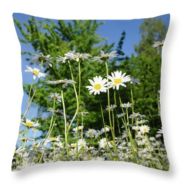 Throw Pillow featuring the photograph Summer Flowers by Kennerth and Birgitta Kullman
