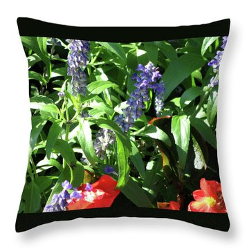 Summer Flowers Throw Pillow by Michele Wilson