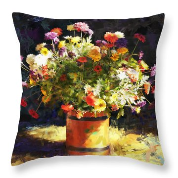 Summer Flowers Throw Pillow by Sandra Selle Rodriguez