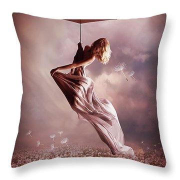 Summer Fly Throw Pillow