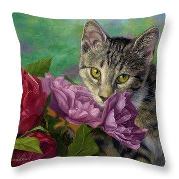 Summer Fragrance Throw Pillow