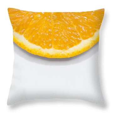 Summer Fruit Orange Slice On Studio Copyspace Throw Pillow
