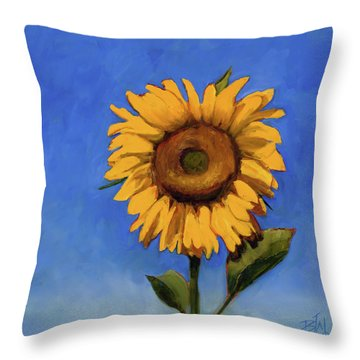 Throw Pillow featuring the painting Summer Fun by Billie Colson